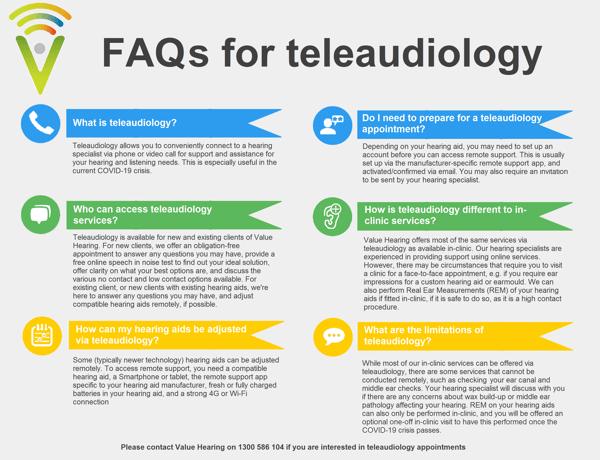 FAQs teleaudiology