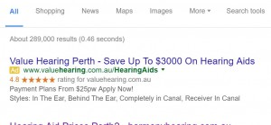 Value Hearing Adwords