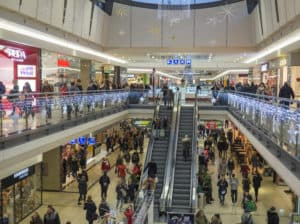 Crowded shopping centres make it difficult to hear and hold conversations.